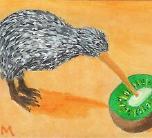 Kiwi Eating Kiwi by Carol Megivern