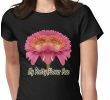 Flower Face Womens Fitted T-Shirt