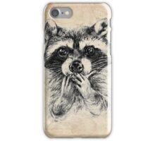 Surprised raccoon iPhone Case/Skin