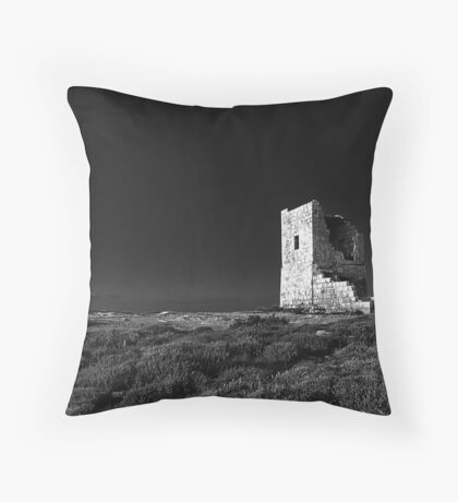 The Ruined Tower Throw Pillow