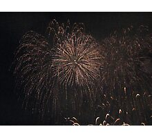 Fireworks at Malta Photographic Print