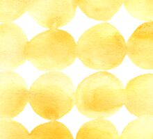 Imperfect Geometry Yellow Circles Sticker
