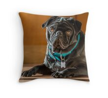 Relaxed Pug Throw Pillow