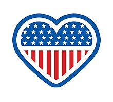 Patriot Heart Photographic Print