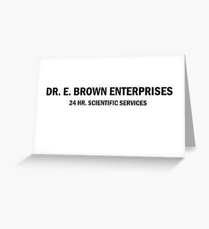 BTTF Doc Lab Greeting Card