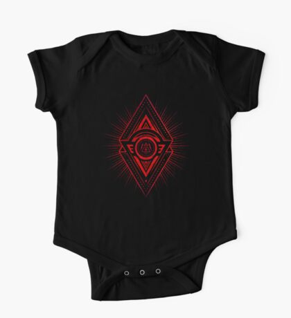 The Eye of Providence is watching you! (Diabolic red Freemason / Illuminati symbolic) Kids Clothes