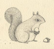 Monochrome Squirrel by Sophie Corrigan
