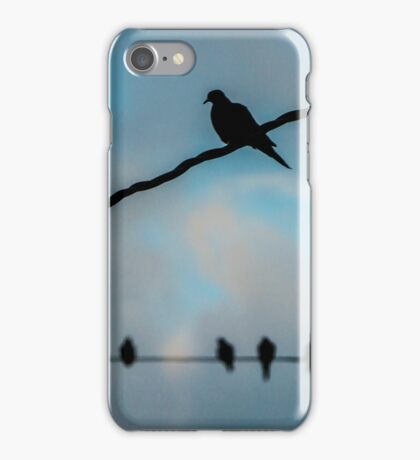 Doves on Wires iPhone Case/Skin