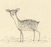 Monochrome Deer by Sophie Corrigan