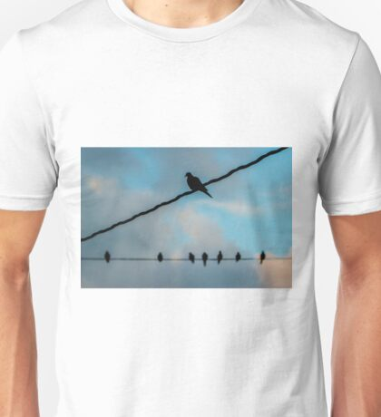 Doves on Wires Unisex T-Shirt