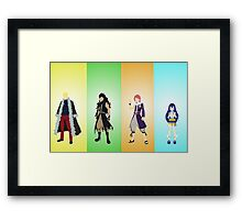 The four dragons layers of the Fairy Tail guild! Framed Print