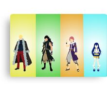 The four dragons layers of the Fairy Tail guild! Canvas Print