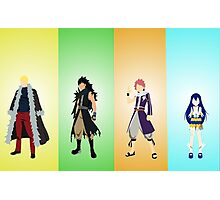 The four dragons layers of the Fairy Tail guild! Photographic Print