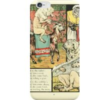 The Mother Hubbard Picture Book by Walter Crane - Plate 21 - Went to the Tailors, Cobblers iPhone Case/Skin