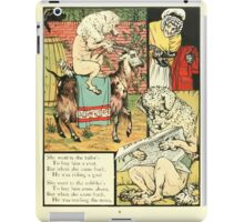 The Mother Hubbard Picture Book by Walter Crane - Plate 21 - Went to the Tailors, Cobblers iPad Case/Skin