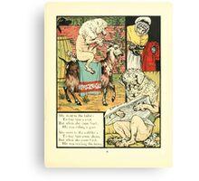 The Mother Hubbard Picture Book by Walter Crane - Plate 21 - Went to the Tailors, Cobblers Canvas Print
