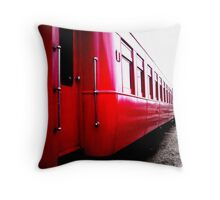 Red Train Throw Pillow