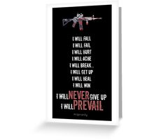 I Will Prevail Greeting Card