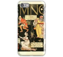 The Mother Hubbard Picture Book by Walter Crane - Plate 56 - The Absurd ABC - K L M N O P iPhone Case/Skin