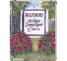 WOLFEBORO NH WELCOME SIGN  iPad Case/Skin