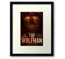 The Wolfman 1941 alternative movie poster Framed Print