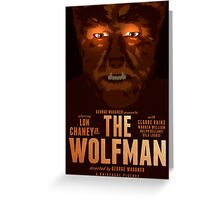 The Wolfman 1941 alternative movie poster Greeting Card
