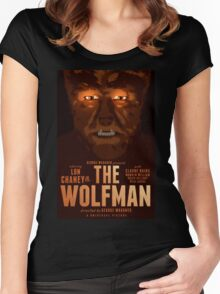 The Wolfman 1941 alternative movie poster Women's Fitted Scoop T-Shirt