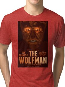 The Wolfman 1941 alternative movie poster Tri-blend T-Shirt