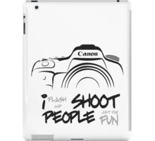 Shoot People for Fun Cartoonist Version (v2) iPad Case/Skin