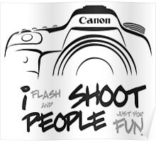 Shoot People for Fun Cartoonist Version (v2) Poster