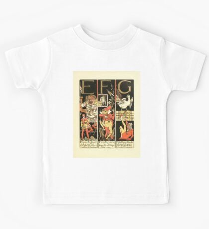 The Mother Hubbard Picture Book by Walter Crane - Plate 51 - The Absurd ABC - E F G Kids Tee