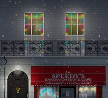 Sherlock Speedy's Cafe christmas by kinographics