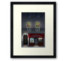 Sherlock Speedy's Cafe christmas Framed Print