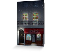 Sherlock Speedy's Cafe christmas Greeting Card
