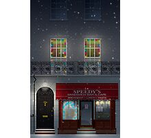 Sherlock Speedy's Cafe christmas Photographic Print