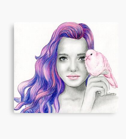 """Pink dove"" Canvas Print"