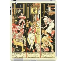 The Mother Hubbard Picture Book by Walter Crane - Plate 54 - The Absurd ABC - H I J iPad Case/Skin