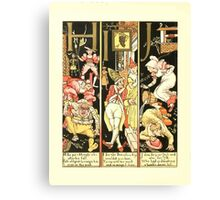 The Mother Hubbard Picture Book by Walter Crane - Plate 54 - The Absurd ABC - H I J Canvas Print