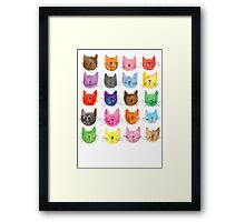 Colourful Kitties Framed Print