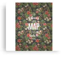 Maroon 5 Maps Quotes Canvas Print