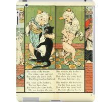 The Mother Hubbard Picture Book by Walter Crane - Plate 18 - Went to the Tavern, Hatters, Barbers, Butchers iPad Case/Skin