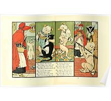 The Mother Hubbard Picture Book by Walter Crane - Plate 18 - Went to the Tavern, Hatters, Barbers, Butchers Poster