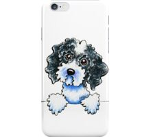 Black Parti Cockapoo Lined Up iPhone Case/Skin