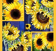 Sunflowers Bright Collection by Irina Sztukowski