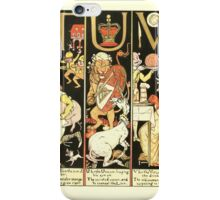 The Mother Hubbard Picture Book by Walter Crane - Plate 62 - The Absurd ABC - T U V iPhone Case/Skin