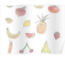 Pale Fruit Poster