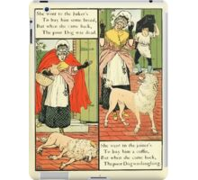 The Mother Hubbard Picture Book by Walter Crane - Plate 13 - Went to the Bakers, Joiners iPad Case/Skin