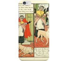 The Mother Hubbard Picture Book by Walter Crane - Plate 13 - Went to the Bakers, Joiners iPhone Case/Skin