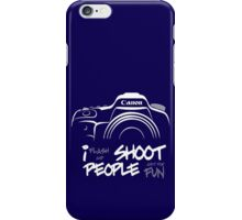 Shoot People for Fun Cartoonist Version (v2) - inverted iPhone Case/Skin