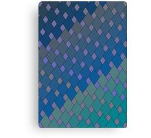 Dark Diamond Waves Canvas Print